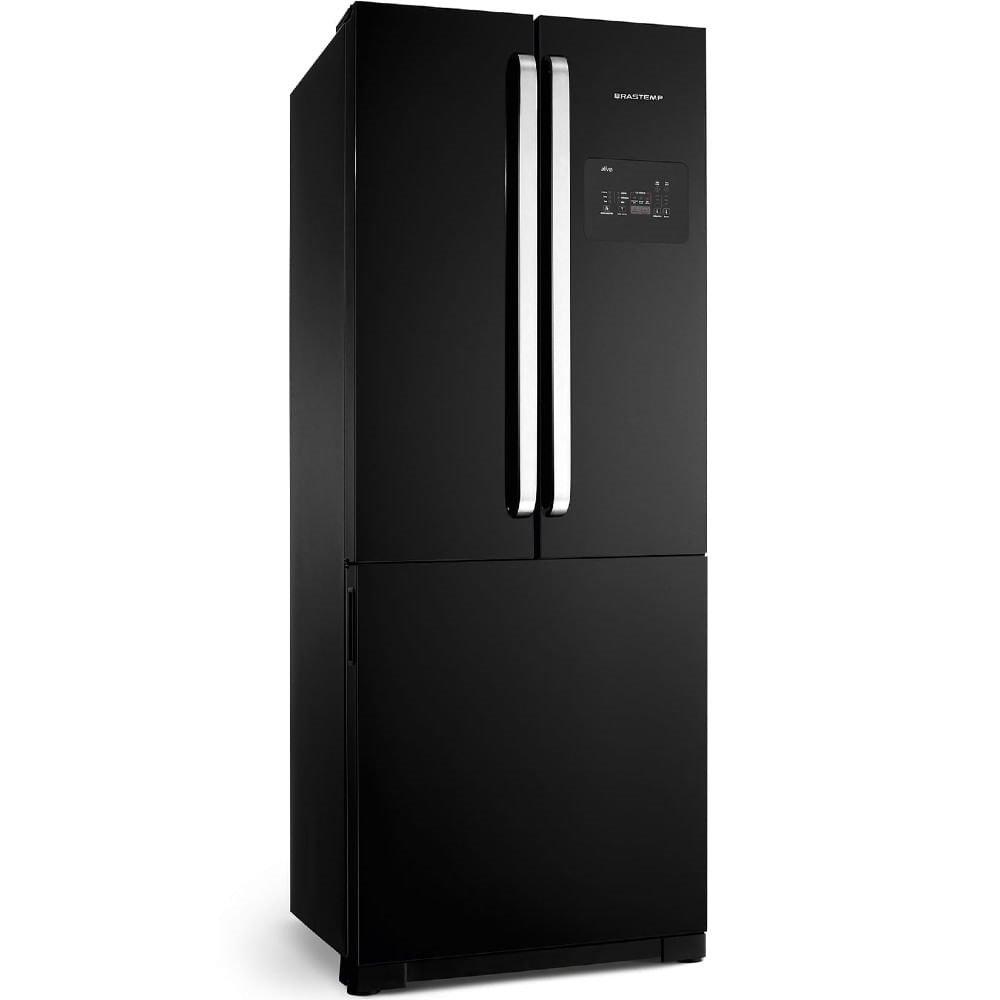 Geladeira/refrigerador 540 Litros 3 Portas Preto Frost Free Side Ice Maker - Brastemp - 220v - Bro80aebna