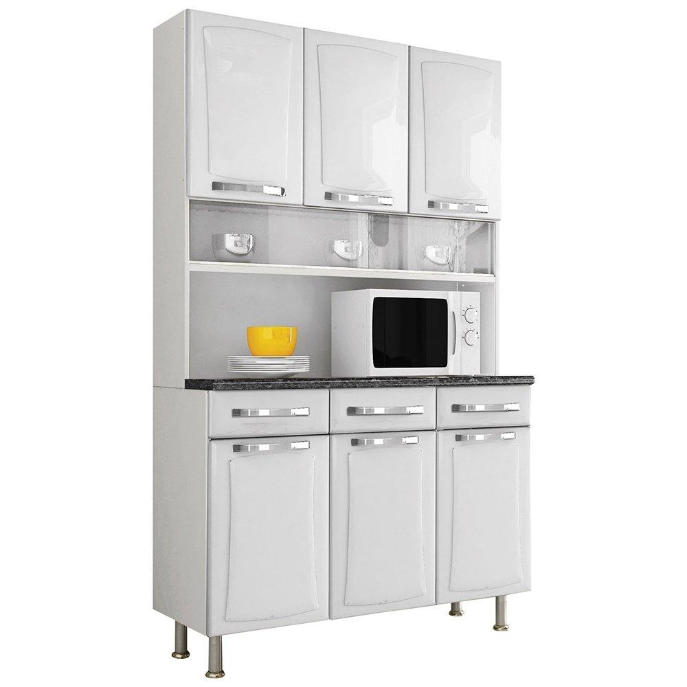 Pintura Em Armario De Cozinha De Aço : Arm?rio de cozinha itanew a?o com portas e