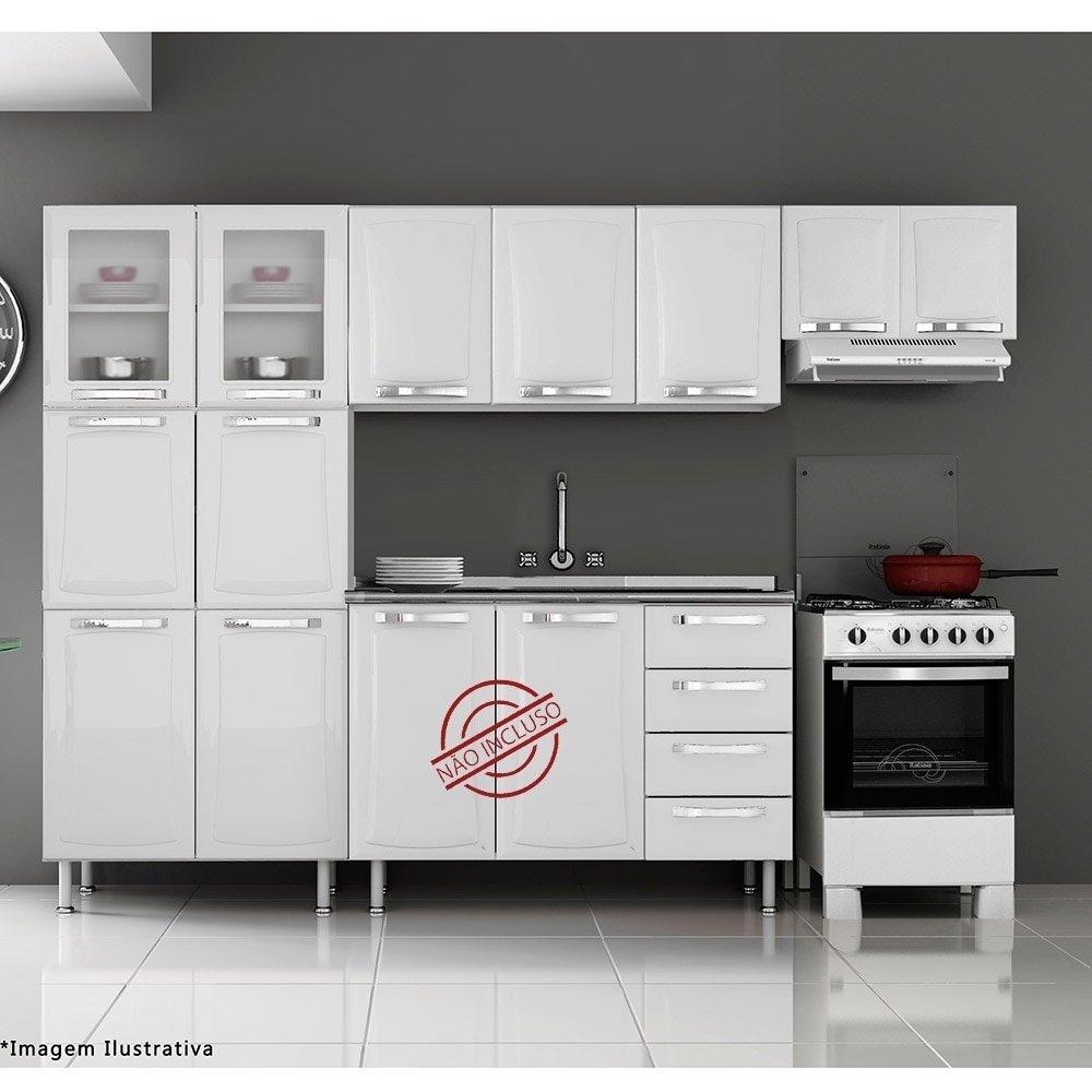 Armario Em Aco Ricardo Eletro : Cozinha compacta em aco ricardo eletro beyato