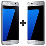 Kit com 02 Smartphone Galaxy S7 Prata Tela 5.1 4G+WiFi+NFC Android 6.0 12MP 32GB - Samsung