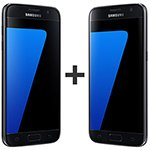 Kit com 02 Smartphone Galaxy S7 Preto Tela 5.1 4G+WiFi+NFC Android 6.0 12MP 32GB - Samsung