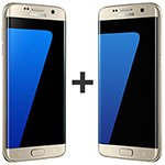Kit com 02 Smartphone Galaxy S7 Edge Dourado Tela 5.5 4G+WiFi+NFC 12MP 32GB - Samsung