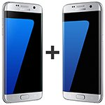 Kit com 02 Smartphone Galaxy S7 Prata Tela 5.5 4G+WiFi+NFC 12MP 32GB - Samsung