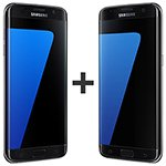 Kit com 02 Smartphone Galaxy S7 Preto Tela 5.5 4G+WiFi+NFC 12MP 32GB - Samsung