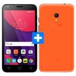 Smartphone Alcatel PIXI4 5 Dual Chip Preto Tela 5 3G 8MP 8GB + Capa + Película