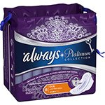 Absorvente c/ Abas Platinum - 8 unidades - Always