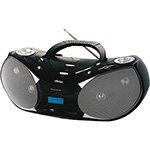 Rádio Boombox Preto PH229N CD, USB, MP3, Auxiliar, Rádio FM, Display Digital, 8W RMS Bivolt - Philco
