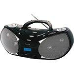 Rádio Boombox Preto PH229N Reproduz CD e MP3 Entrada USB e SD e Auxiliar Rádio AM / FM Função ID3 8W RMS - Philco