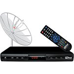 Antena Parabolica Digital CAD1000 TVFREE monoponto 1 50M 4 jogos interativos - Cromus