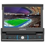 Som Automotivo SP6720DTV DVD Player, Touch 7' Retrátil, USB, SD Card, Bluetooth, Entrada p/ Câmera de Ré - Pósitron