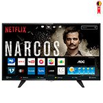Smart TV LED 32' AOC LE32S5970 HD com Wi-Fi, Controle com Botão Netflix, 2 USB, 3 HDMI, TV Digital e 60Hz