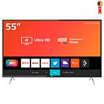 Smart TV LED AOC 55' 55U6295/78G 4K com Wi-Fi, 2 USB, 3 HDMI e 60 Hz