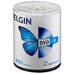 DVD - R 4.7GB 120 Minutos 16X BULK com 100 Unidades - Elgin