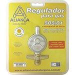 Regulador de Gás 505 / 01 Pequeno c / Mangueira 80 cm - Aliança