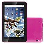 Tablet Toks 7 Rosa Tela 7 WiFi Android 4.2 Câmera 1.3MP Memória 8GB Camera Frontal e Traseira - Amvox