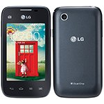 Smartphone L35 Dual Chip Preto Tela 3', 3G+WiFi, Android 4.4, Câmera 3MP, Dual Core 1.2Ghz, Memória 4GB, TV Digital - LG