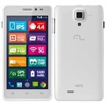 Smartphone MS5 P3272 Dual Chip Branco Tela 4.5 3G+WiFi Android 4.2 8MP 4 GB - Multilaser