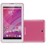 Tablet M7, Dual Chip, Rosa, Tela 7', 3G+WiFi, Android 4.4, 2MP, 8GB - Multilaser