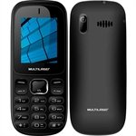 Celular Multilaser UP P9017, Dual Chip, Preto, Câmera, MP3/MP4, 0.3MP, Rádio FM, Bluetooth