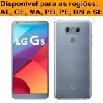 Smartphone LG G6 Platinum Tela 5.7 4G+WiFi+NFC Android 7.0 13MP 32GB