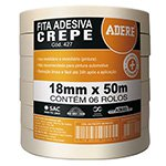 Fita Crepe Uso Geral 427 - 18MMX50M 6X1 - Adere