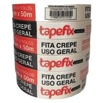 Fita Crepe Adere Tapefix Uso Geral 423 18mmx50m Embalagem com 6 Unidades