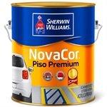 Tinta Piso Lisa p / Cimentado Preto 3600ml - Novacor