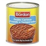 Feijão em Lata Carioca Temperado 300g - 24 unidade - Bordon