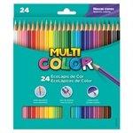 Lápis de Cor Super 24 Cores Emb. c / 6 Un. - Multicolor