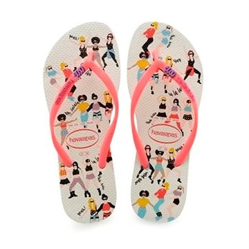Havaianas Slim Cool Branco/Coral New