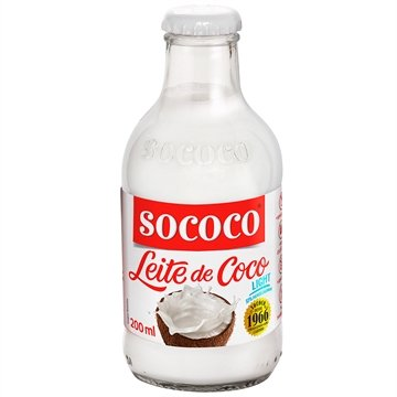Leite de Coco Light 200ml - 24 unidades - Sococo