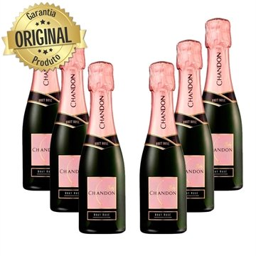 Kit Espumante Baby Chandon Brut Rose 187ml - 6 garrafas