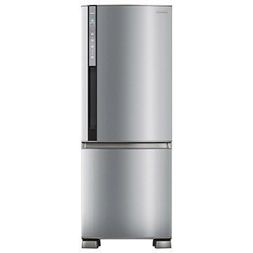 Geladeira/Refrigerador Panasonic Frost Free 2 Portas Inverter Bottom Freezer Econavi BB52PV2X 423 Litros Aço Escovado