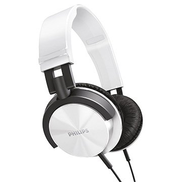 Headphone SHL3000WT Estilo Dj Branco e Preto - Philips