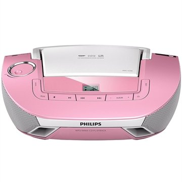 Rádio Boombox AZ1837P CD, 1 USB, Aux-in, Rádio FM/AM, 2W RMS - Philips