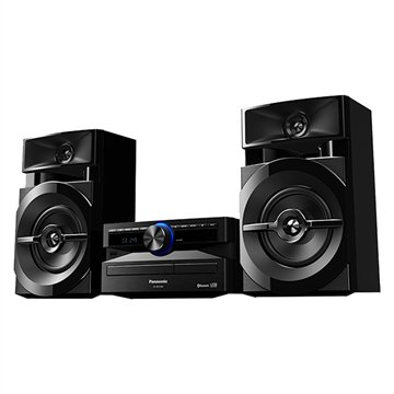 Mini System SC-AKX100LBK USB, Bluetooth, Wireless Media, Max Juke, 250W RMS - Panasonic