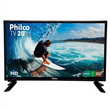 "TV LED 20"" Philco PH20M91D com Conversor Digital, 1 USB, 1 HDMI, Guide, Sleep Timer, Closed Caption e 60Hz"