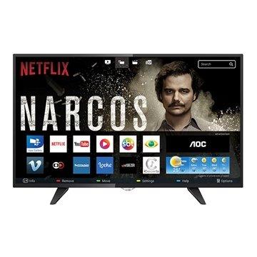 """Smart TV LED 43"""" AOC LE43S5970 Full HD com 2 USB e 3 HDMI"""