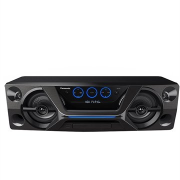 Mini System Panasonic SC-UA3LB-K Bluetooth, Aplicativo Panasonic MAX JUKE e Wireless Media, Design Portátil, 250W RMS