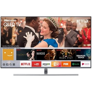 "Smart TV QLED 65"" Samsung QN65Q7FAM 4K Ultra HD com Wi-Fi 3 USB 4 HDMI e 240Hz"