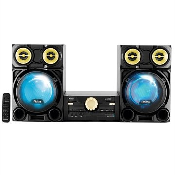 Mini System PH1800BT Bluetooth, CD, MP3, USB, Rádio FM, 1600W RMS - Philco
