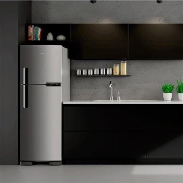 a6f8756b0 ... Geladeira Refrigerador Brastemp Frost Free 2 Portas BRM44 375 Litros  Inox