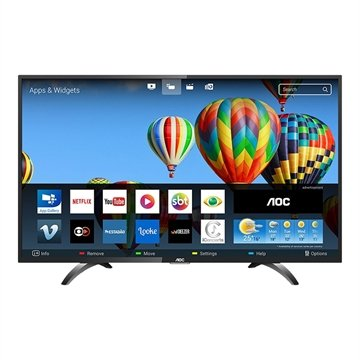 "Smart TV LED 32"" AOC LE32S5970S HD com Wi-Fi, 2 USB, 3 HDMI, Sleep Timer e 60Hz"