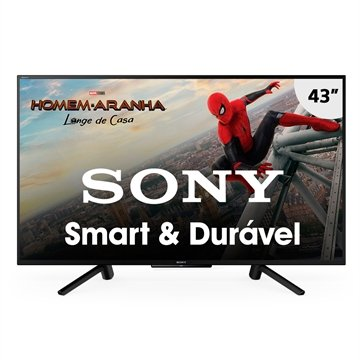 "Smart TV LED 43"" Sony KDL-43W665F Full HD HDR com Wi-Fi 2 USB, 2 HDMI, Motionflow XR 240, X-Protection PRO, X-Reality PRO"