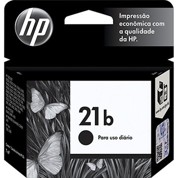 Cartucho Original HP 21 C9351BB Every Day Preto para Impressoras HP Deskjet 3910, 3918