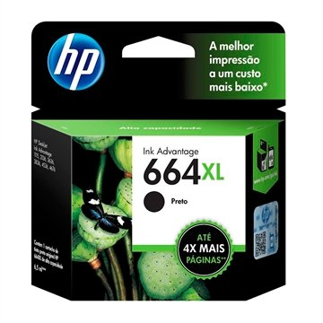 Cartucho Original HP 664XL F6V31AB Preto