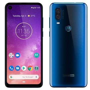 "Smartphone Motorola One Vision, Safira, Dual Chip, Tela 6,34"", 4G+Wi-Fi+NFC, Android, Câm Dupla 48+5MP e frontal 25MP, 128GB"