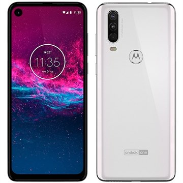 "Smartphone Motorola One Action, Branco Polar, Dual Chip, Tela 6.34"", 4G+Wi-Fi+NFC, Câm Traseira 12+5+16MP e Frontal 12MP, 128GB"