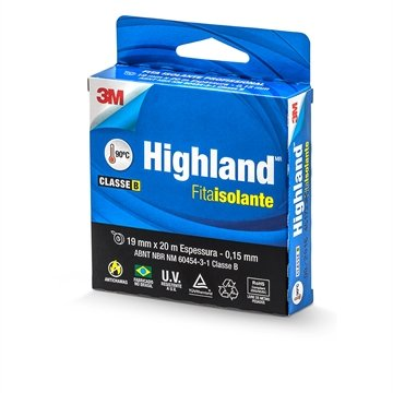 Fita Isolante 3m Highland 19mm x 20m