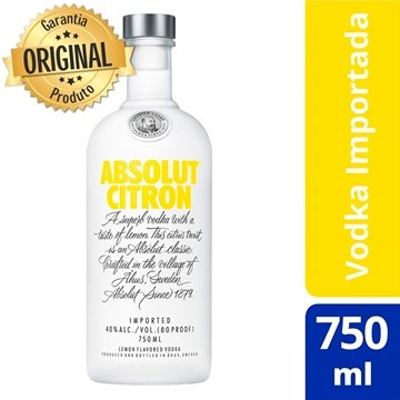 Vodka Sueca Citron Garrafa 750ml - Absolut
